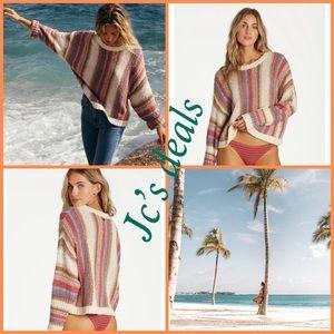 🌺 billabong easy going stripe sweater 🌺